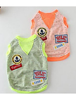 Hunde Kleider Hundekleidung Sommer Karton Niedlich Modisch Lässig/Alltäglich Orange Leicht Grün