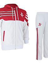 Ensemble de Vêtements/Tenus(Blanc Rouge) -Basket-ball-Manches longues-Unisexe
