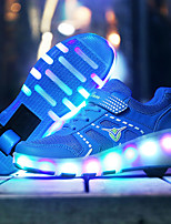 Kids Grils Boys' Athletic Shoes Spring Summer Fall Winter Light Up Shoes Luminous Shoe Tulle Outdoor Athletic Casual Low Heel LED Lace-up Skate Shoes