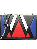 Women Shoulder Bag PU All Seasons Sports Casual Office & Career Baguette Magnetic Gold Blue
