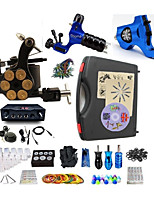 Complete Tattoo Kit 3 Machines G3Z14R1R5 Liner & Shader Dual LED Power Supply
