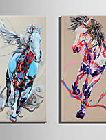 E-HOME Stretched Canvas Art Galloping Horses Decoration Painting One Pcs