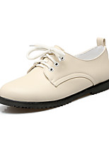 Women's Oxfords Summer Fall Club Shoes PU Office & Career Party & Evening Dress Flat Heel Lace-up
