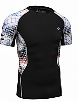 Realtoo Homme Manches courtes Course / Running Hauts/Tops Séchage rapide Eté Vêtements de sport Exercice & Fitness Térylène Mince
