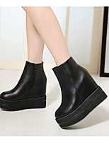 Women's Boots Winter Mary Jane PU Casual Chunky Heel