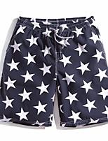 Print Geometric Boxers Underwear,Polyester