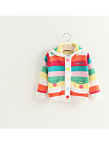 Casual/Daily Rainbow Blouse,Cotton Spring Long Sleeve Regular