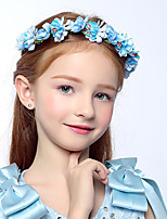 Kid's Fabric Hair Clip And Wrist Flowers Cute Party Casual Spring Summer Headband Headpiece Head Wreath  Hair Accessories  Flower Girls