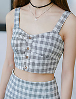 Real shot in spring and summer 2017 new Korean female waist plaid suit camisole package hip was thin suit