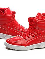 Для мужчин Кеды Удобная обувь Кожа Весна Осень Зима Для офиса Повседневный На плоской подошве Белый Красный Синий На плоской подошве