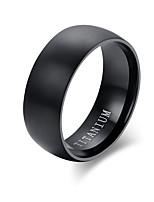 Кольцо Сталь Круглой формы Круг Черный Бижутерия Повседневные 1шт