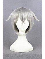 Short Touken Ranbu Online Hotarumaru Wig Cosplay Silvery Gray Synthetic 14inch Anime Cosplay Hair Wig CS-231C