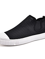 Men's Sneakers Spring / Summer / Fall / Winter Comfort Leather Outdoor / Office & Career / Casual Flat Heel Lace-up Black / White