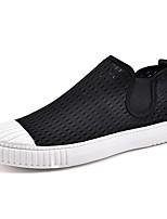 Белый Черный-Для мужчин-Для прогулок Повседневный Для занятий спортом-Тюль-На плоской подошве-Удобная обувь Пара обуви-Мокасины и Свитер