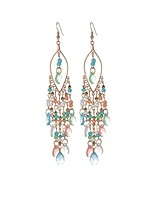 Crystal Taper Shape Drop Earrings Jewelry Tassel Party Daily Casual Crystal Alloy Resin 1 pair Black White Blue Green