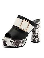 Heels Summer First Walkers PU Office & Career Dress Casual Wedge Heel Buckle Black Silver Gold Walking