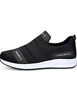 Hombre-Tacón Plano-Confort-Zapatos de taco bajo y Slip-Ons-Informal Deporte-Tul Tejido-Negro Azul
