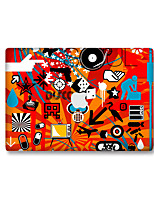 For MacBook Air 11 13/Pro13 15/Pro with Retina13 15/MacBook12 Red Cartoon Decorative Skin Sticker Glow in The Dark