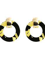 Drop Earrings Acrylic Alloy Circular Fashion Euramerican Circle Yellow Jewelry Wedding Party Halloween Daily Casual Sports 1 pair