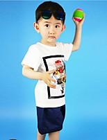 Мальчики Наборы Спорт Праздник На каждый день Хлопок С принтом Лето С короткими рукавами Набор одежды