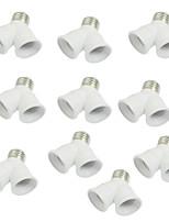 10 Pcs E27 to E27 Light Lamp Bulb Socket Y Shape 2 Splitter Convertor
