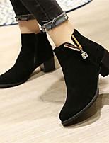 Women's Boots Winter Comfort PU Casual Chunky Heel Block Heel