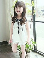 Girl's Cotton Fashionable Fashion Fly Princess Sleeve Lovely Bow Tie Dress