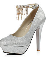 Women's Heels Spring Summer Fall Winter Club Shoes PU Glitter Wedding Office & Career Dress Stiletto Heel Rhinestone Buckle