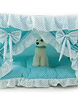 Кошка Собака Кровати Животные Покрывала Бант Складной Синий Розовый
