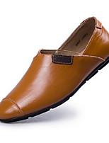 גברים-נעלי אוקספורד-עור-נוחות-חום כחול-משרד ועבודה יומיומי