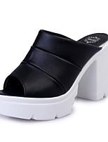 Women's Slippers & Flip-Flops Summer Slingback PU Casual Chunky Heel Block Heel Split Joint Walking