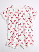 Baby Casual/Daily Print One-Pieces,Cotton Summer Short Sleeve