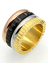 Unisex Bague Famous Brand Rotatable MultiColor Circles 316L Stainless Steel Ceramic Rings For Men And Women