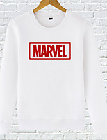 Men's Casual/Daily Simple Sweatshirt Letter Round Neck Micro-elastic Cotton Long Sleeve Fall