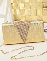 Women PU Metal Formal Event/Party Wedding Clutch Champagne Gold Black Silver