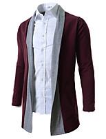 Herren Standard Mantel / Capes-Ausgehen Lässig/Alltäglich Solide Hemdkragen Langarm Baumwolle Alle Saisons Mittel Mikro-elastisch