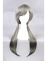 Longue longueur juive lapin gris mélangé synthétique 26inch perruque cosplay anime cs-278b
