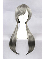 Médio longo judy coelho cinza misturado sintético 26inch anime cosplay peruca cs-278b