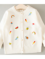 Casual/Daily Rainbow Blouse,Cotton Winter Long Sleeve Regular