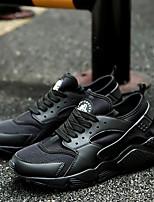 Белый Черный Красный-Для мужчин-Для офиса Повседневный Для занятий спортом-Тюль-На плоской подошве-Удобная обувь-Кеды