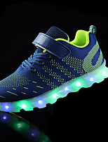 Boys' Sneakers Spring Fall Light Up Shoes PU Outdoor Casual Flat Heel Magic Tape