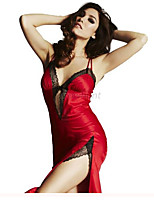 Women's Lace Lingerie Nightwear Solid-Thin Lace Women's