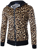 Men's Casual/Daily Sports Sweatshirt Leopard Round Neck Micro-elastic Cotton Long Sleeve Spring Fall
