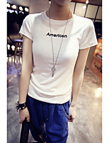 Summer new letters printed short-sleeve T-shirt Slim compassionate women bottoming shirt summer short-sleeved t-shirt women