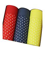 Sexy Couleur Pleine Boxers-Coton Soie Glacée