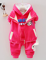 Girls' Casual/Daily Solid Animal Print Sets,Cotton Winter Clothing Set