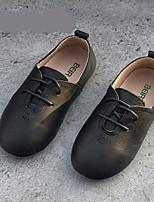 Белый Черный Темно-серый-Девочки-Повседневный-Полиуретан-На плоской подошве-Обувь для девочек-На плокой подошве