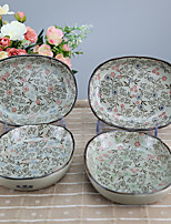 Arika Flowery Styled Porcelain Small Serving Dishes Dinnerware