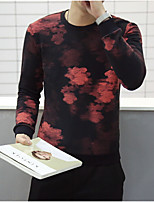 Men's Sports Active Sweatshirt Solid Round Neck Micro-elastic Cotton Long Sleeve Spring