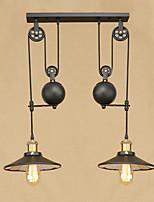Lampe suspendue ,  Rétro Rustique Peintures Fonctionnalité for Designers MétalSalle de séjour Chambre à coucher Salle à manger